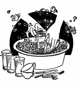 washing-dishes-vintage-clipart
